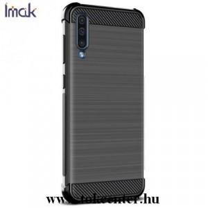 NOKIA 9 PureView IMAK VEGA telefonvédő gumi / szilikon (közepesen ütésálló, légpárnás sarok, szálcsiszolt, karbonminta) FEKETE