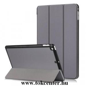 APPLE IPAD mini 2019 (mini 5) /APPLE IPAD mini 4 Tok álló, bőr (aktív flip, oldalra nyíló, TRIFOLD asztali tartó funkció) SZÜRKE