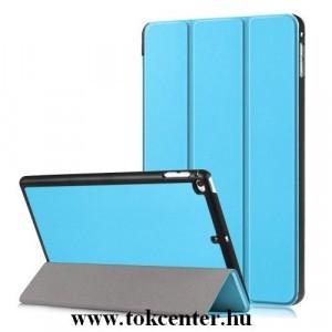 APPLE IPAD mini 2019 (mini 5) /APPLE IPAD mini 4 Tok álló, bőr (aktív flip, oldalra nyíló, TRIFOLD asztali tartó funkció) VILÁGOSKÉK