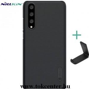 HUAWEI P20 Pro NILLKIN SUPER FROSTED műanyag telefonvédő (gumírozott, érdes felület + asztali tartó) FEKETE