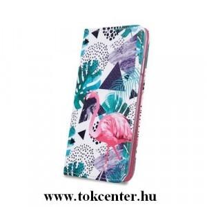 iPhone XS Max (6,5) Flamingo mintás szilikon keretes könyvtok