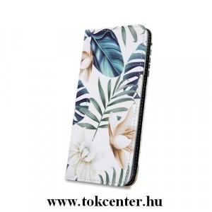iPhone XS Max (6,5) Orchid mintás szilikon keretes könyvtok
