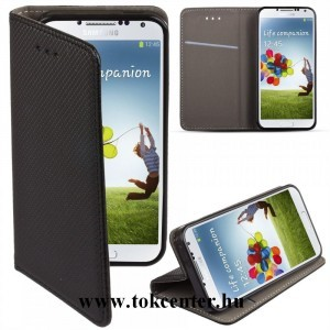 Samsung A405 Galaxy A40 fekete mágneses szilikon keretes könyvtok