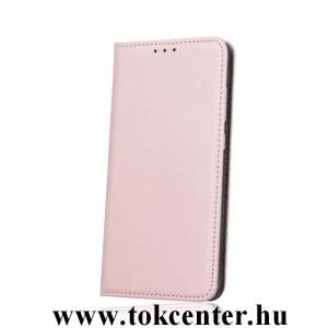 Samsung A405 Galaxy A40 rose gold mágneses átlátszó szilikon keretes könyvtok