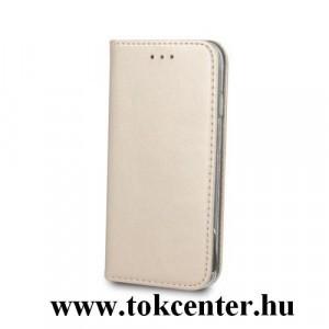 Smart Magnetic Samsung A405 Galaxy A40 arany szilikon keretes mágneses könyvtok