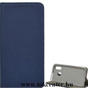 SAMSUNG Galaxy A40 (SM-405F)Tok álló, bőr (FLIP, oldalra nyíló, asztali tartó funkció) KÉK