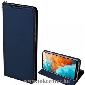 Samsung Galaxy S10 5G (SM-G977U) DUX DUCIS SKIN PRO tok álló, bőr (FLIP, oldalra nyíló, bankkártya tartó, asztali tartó funkció) SÖTÉTKÉK