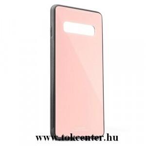 Samsung Galaxy A40 (SM-405F) Műanyag telefonvédő (közepesen ütésálló, üveg hátlap) RÓZSASZÍN
