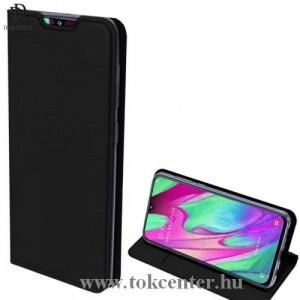Samsung Galaxy A70 (SM-705F) DUX DUCIS SKIN PRO tok álló, bőr (FLIP, oldalra nyíló, bankkártya tartó, asztali tartó funkció) FEKETE