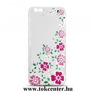 Apple iPhone 7 (4,7)/ Apple iPhone 8 (4,7) Telefonvédő gumi / szilikon (színes virág mintás) átlátszó