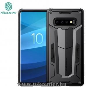 Samsung Galaxy S10 Plus (SM-G975) NILLKIN DEFENDER II. telefonvédő gumi / szilikon (műanyag belső, közepesen ütésálló) FEKETE