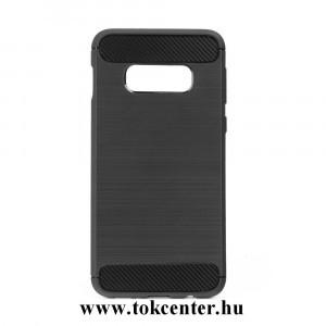 Carbon Fiber Samsung G970 Galaxy S10e fekete szilikon tok