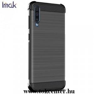 Nokia 4.2 IMAK VEGA telefonvédő gumi / szilikon (közepesen ütésálló, légpárnás sarok, szálcsiszolt, karbonminta) FEKETE