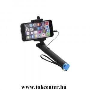 Blun Univerzális kábeles fekete-kék selfie bot