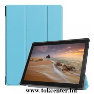 Samsung Galaxy Tab A 10.1 LTE (2019) SM-T515 /Samsung Galaxy Tab A 10.1 WIFI (2019) SM-T510 Tok álló, bőr (aktív flip, oldalra nyíló, TRIFOLD asztali tartó funkció) VILÁGOSKÉK