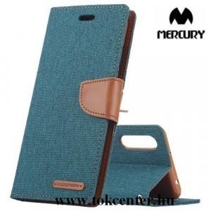 Samsung Galaxy A50 (SM-A505F) MERCURY Canvas Diary tok álló (FLIP, oldalra nyíló, asztali tartó funkció, textil hatás) ZÖLD