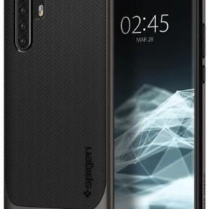 Huawei P30 Pro SPIGEN NEO HYBRID műanyag telefonvédő (közepesen ütésálló, szilikon keret, légpárnás sarok, rácsminta) FEKETE