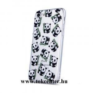 Samsung G975 Galaxy S10 Plus Telefonvédő gumi / szilikon (panda mintás) ÁTLÁTSZÓ