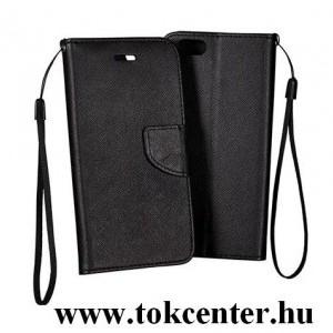 FANCY Huawei P30 Lite fekete szilikon keretes könyvtok