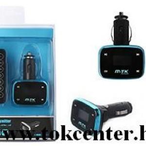 MTK K2527 fekete-kék FM transmitter távirányítóval
