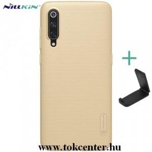 Honor 20 Pro NILLKIN SUPER FROSTED műanyag telefonvédő (gumírozott, érdes felület + asztali tartó) ARANY