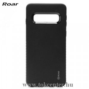 Samsung Galaxy A40 (SM-A405F) ROAR RICO ARMOR telefonvédő gumi / szilikon (közepesen ütésálló, műanyag hátlap, matt) FEKETE