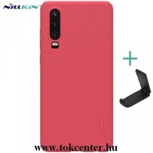 Samsung Galaxy A40 (SM-A405F) NILLKIN SUPER FROSTED műanyag telefonvédő (gumírozott, érdes felület + asztali tartó) PIROS