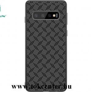 Huawei P30 Pro NILLKIN SYNTHETIC FIBER PLAID műanyag telefonvédő (3D, csíkos minta) FEKETE