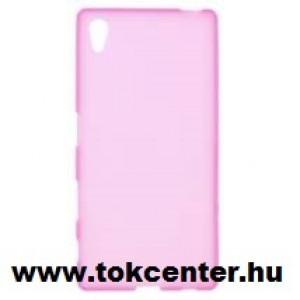 Samsung Galaxy Grand Prime (SM-G530F) Telefonvédő gumi / szilikon (ultravékony) RÓZSASZÍN + AJÁNDÉK képernyővédő üvegfólia