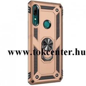 Huawei P30 Pro Defender műanyag telefonvédő (közepesen ütésálló, szilikon belső, telefontartó gyűrű, beépített fémlemez) ARANY
