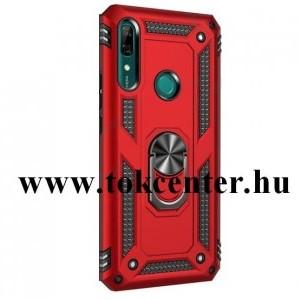 Huawei P30 Pro Defender műanyag telefonvédő (közepesen ütésálló, szilikon belső, telefontartó gyűrű, beépített fémlemez) PIROS