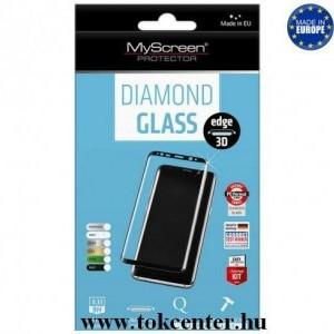 Huawei P30 Pro MYSCREEN DIAMOND GLASS EDGE képernyővédő üveg (3D full cover, íves, karcálló, tok barát, 0.33 mm, 9H) FEKETE
