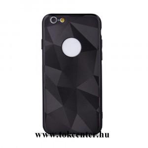 Samsung A105 Galaxy A10 Telefonvédő gumi / szilikon (Geometric Shine, 3D hatás) FEKETE