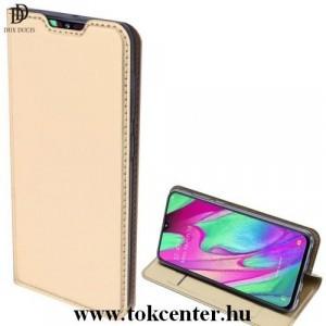 Samsung Galaxy Note 10 Plus (SM-N975F) /Samsung Galaxy Note 10 Plus 5G (SM-N976F) DUX DUCIS SKIN PRO tok álló, bőr hatású (FLIP, oldalra nyíló, bankkártya tartó, asztali tartó funkció) ARANY