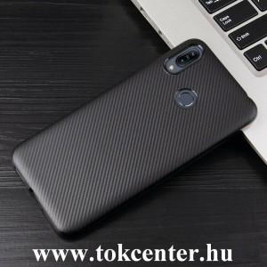 Samsung Galaxy A40 (SM-A405F) Szilikon telefonvédő (karbon minta) FEKETE