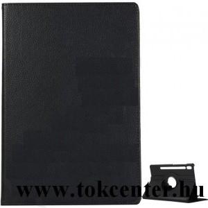 Samsung Galaxy Tab S6 10.5 LTE (SM-T865) /Samsung Galaxy Tab S6 10.5 WIFI (SM-T860) Tok álló, bőr hatású (FLIP, asztali tartó funkció, 360°-ban forgatható) FEKETE