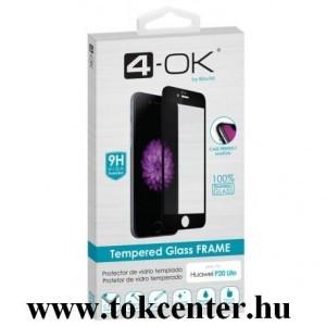 Samsung Galaxy A40 (SM-A405F) 4-OK képernyővédő üveg (3D full glue, íves, teljes felületén tapad, tok barát, karcálló, 9H) FEKETE