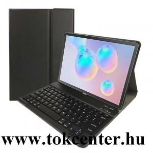 Samsung Galaxy Tab S6 10.5 LTE (SM-T865) /Samsung Galaxy Tab S6 10.5 WIFI (SM-T860) Tok álló, bőr hatású (FLIP, bluetooth billentyűzet, asztali tartó funkció, QWERTY, angol nyelvű) FEKETE