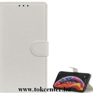 Samsung Galaxy A30s (SM-A307F) /Samsung Galaxy A50 (SM-A505F) Tok álló, bőr hatású (FLIP, oldalra nyíló, asztali tartó funkció) FEHÉR