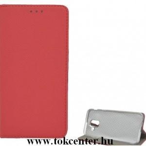 Samsung Galaxy A30s (SM-A307F) /Samsung Galaxy A50 (SM-A505F) Tok álló, bőr hatású (FLIP, oldalra nyíló, asztali tartó funkció) PIROS