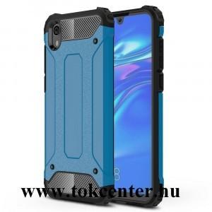 Honor 8S /Huawei Y5 (2019) Defender műanyag telefonvédő (közepesen ütésálló, légpárnás sarok, gumi / szilikon belső, fémhatás) VILÁGOSKÉK