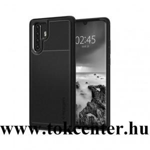 Huawei P30 Pro SPIGEN RUGGED ARMOR szilikon telefonvédő (közepesen ütésálló, légpárnás sarok, karbon minta) FEKETE