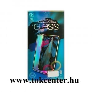 Samsung A505 Galaxy A50 Képernyővédő üveg (hajlított 9D előlapi üvegfólia) FEKETE