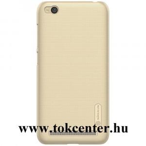 XIAOMI Redmi 5A NILLKIN SUPER FROSTED műanyag telefonvédő (gumírozott, érdes felület, képernyővédő fólia) ARANY