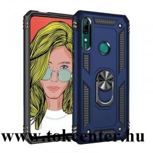 Huawei P Smart Z Defender műanyag telefonvédő (közepesen ütésálló, szilikon belső, telefontartó gyűrű, beépített fémlemez) SÖTÉTKÉK