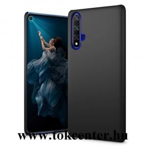 Honor 20 / Huawei Nova 5T Műanyag telefonvédő (gumírozott) FEKETE
