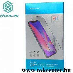 Xiaomi Redmi Note 8T NILLKIN CP+ PRO képernyővédő üveg (2.5D kerekített szél, íves, full glue, karcálló, UV szűrés, 0.33mm, 9H) FEKETE