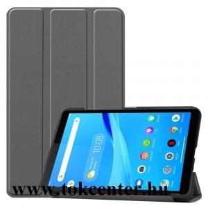 Lenovo Tab M7 (TB-7305F) Tok álló, bőr hatású (aktív flip, oldalra nyíló, TRIFOLD asztali tartó funkció) EZÜST