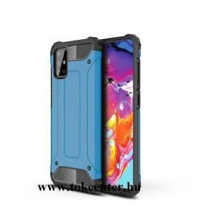 Samsung Galaxy A51 (SM-A515F) Defender műanyag telefonvédő (közepesen ütésálló, légpárnás sarok, szilikon belső, fémhatás) VILÁGOSKÉK