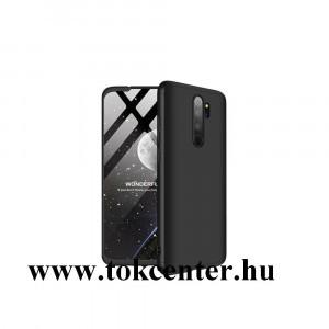 Xiaomi Redmi Note 8 Pro GKK műanyag telefonvédő (közepesen ütésálló, 3 részes, szétszedhető, előlap védelem) FEKETE